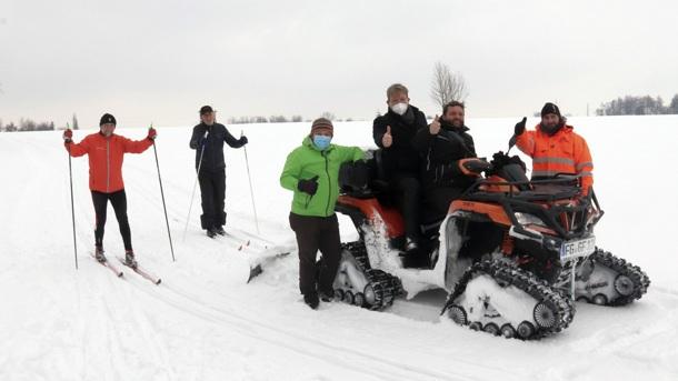 Kleine Spende für große Spuren im Schnee