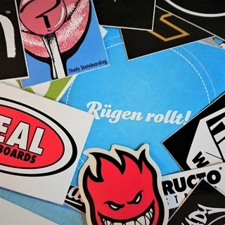 Skateboard-Stickerpaket