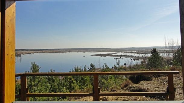 Reparatur eines Aussichtspunktes im NGP Lausitzer Seenland