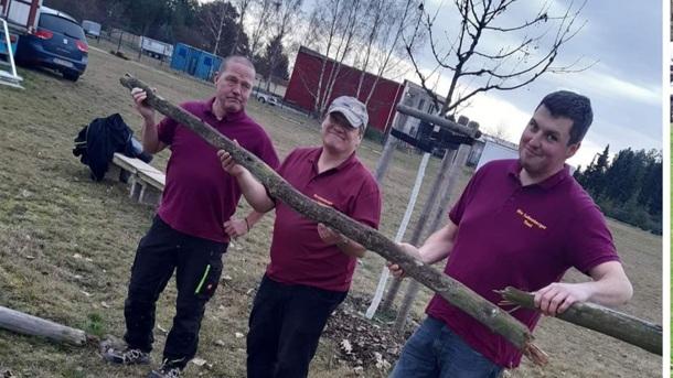 Reitplatzumzäunung der Lobenburger e.V. in Hohenleipisch