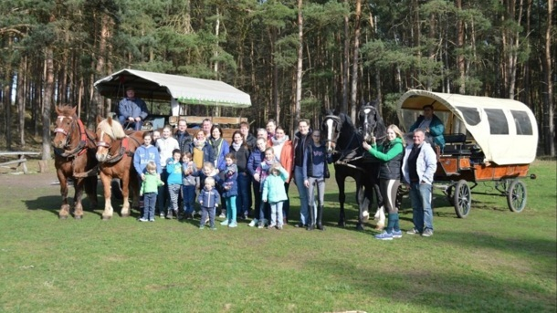 Dressur für Pferd und Kind