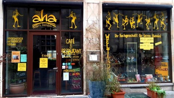 Das LadenCafé aha in Dresden - eine Oase in Gefahr