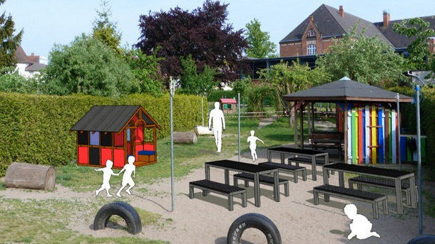 Kinderspielhaus für KiTa Brummkreisel