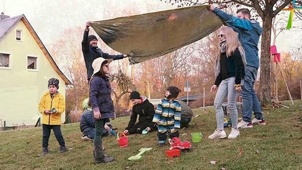 Ort der Begegnung mit Spielplatz am Schlosspark Planitz