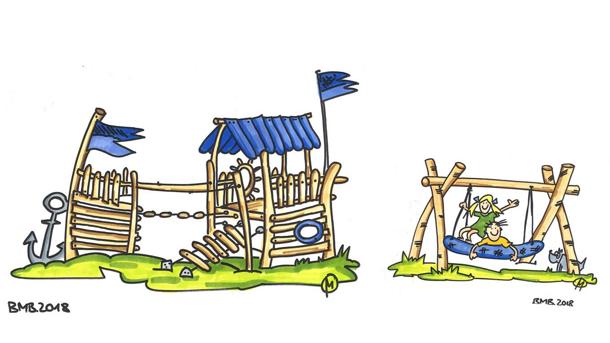 Neuer Spielplatz im Naturbad Buschmühle