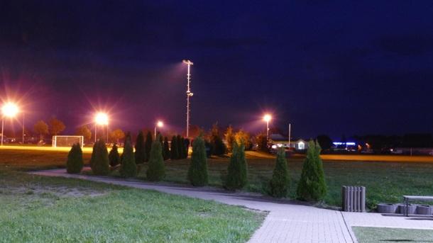 Umrüstung des Flutlichtes im  Güstrower Jahn Stadion auf LED