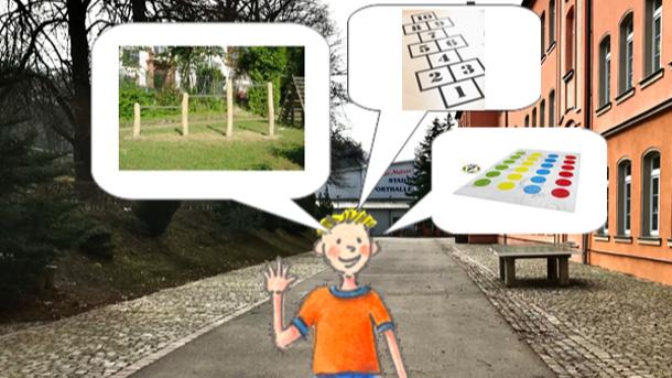 Pausenhofgestaltung der Grundschule Waldheim