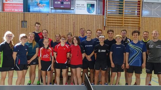 Turnhalle Graupa - Blendschutz für den TSV Abt. Tischtennis